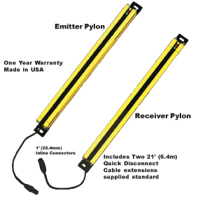 Safety Light Curtain Model SS Emitter Receiver